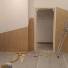 Монтаж рулонного линолеума на стены