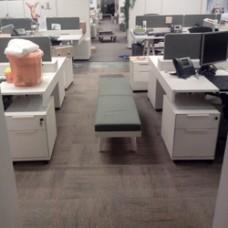 Демонтаж/монтаж  ковровой плитки  по фальшполу