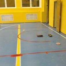 Нанесение спортивной  разметки:  Мини-футбол, баскетбол, волейбол