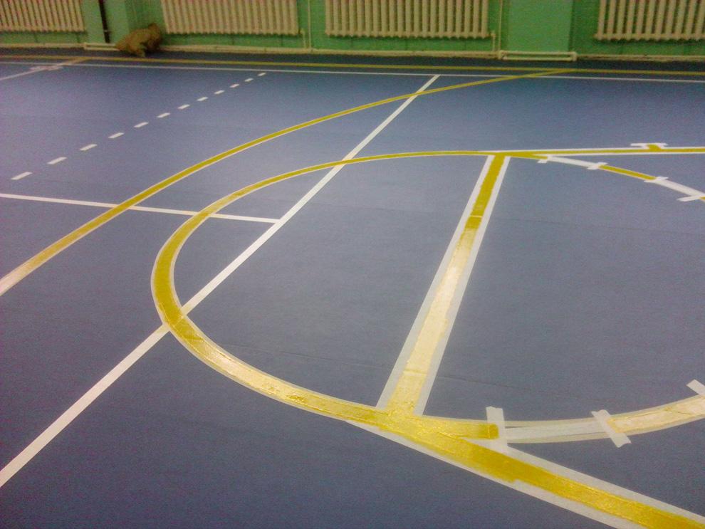 нанесение разметки спортивных площадок