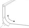Радиус кривизны напольного покрытия заводимого на стену